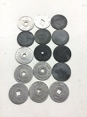 Lot Of 15 Vintage Sales Tax Tokens Missouri Alabama Louisiana Mississippi