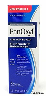 Panoxyl 10% Acne Foaming Wash Maximum Strength 5.5 oz : 2 packs