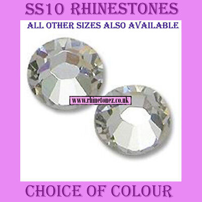 2000 x SS10 - 3mm Crystal Hotfix Rhinestones 30 Colours (or 1000) - FREE POSTAGE
