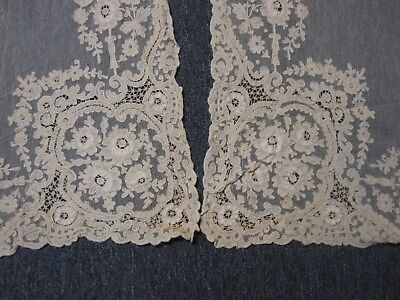 """4 Pairs ~ 8 Panels Antique Lace Drapes ~ 30"""" Wide X 88"""" Long ~ Lovely"""