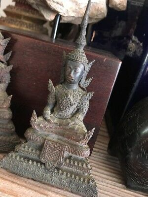 Old 1920s Collection Thailand Buddha Bronze Ming Dynasty Thai Religious art fine