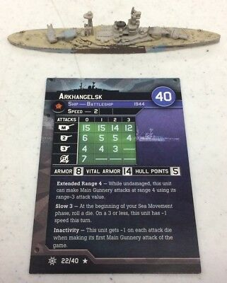 Axis and Allies War at Sea Arkhangelsk Condition Zebra 22/40