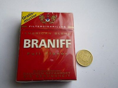 Alte volle Cigarilloschachtel - 25 Cigarillos Braniff - Gratismuster Packung
