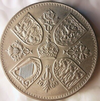 1960 GREAT BRITAIN CROWN - AU - Great Strong Grade Coin - Lot #M15