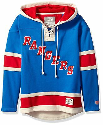 332f17594 NHL New York RANGERS LUNDQVIST Men's Player Lacer Hooded Jersey OLD TIME  HOCKEY