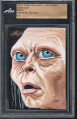 2015 Sdcc Comic-Con Exclusive Tim Shay 1/1  Lord Of The Rings Gollum Sketch Card