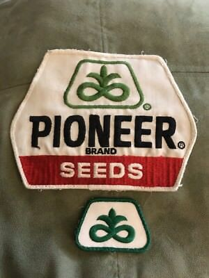 2 Vintage PIONEER SEED CORN FARM PATCH's