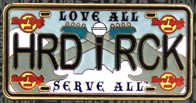 """Hard Rock Cafe ONLINE 2018 LICENSE PLATE Series Core PIN """"HRD RCK"""" HRC New!"""