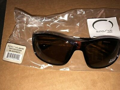 e4391b4bce6 SUNCLOUD Nightcap Tortoise Gold Frame Brown Polarized Lenses Sunglasses