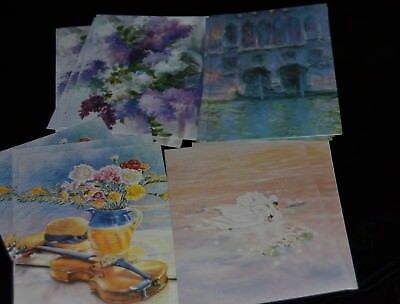 2001 Nat'l Society Daughters American Revolution Note Cards 11 Cards WATERCOLOR