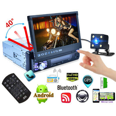 1DIN Android 6.0 3G WiFi 7'' Car MP5 Player GPS Mirror Link + Rear View Camera