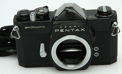 Asahi Pentax Spotmatic SP black body needs foam, no meter 367851