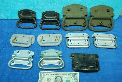 11 pc Lot Antique Vintage Trunk/Chest Side Handles Old Salvaged Hardware Stanley