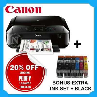 Canon MG6860-BK 3-in-1 Wireless Color MFP Printer+AirPrint+BONUS:PGI-670BK