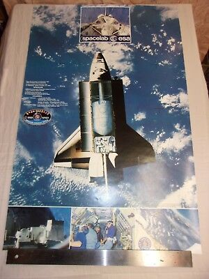 Poster - Spacelab - Columbia / Esa - Nasa / Mission 1 - Sts 9