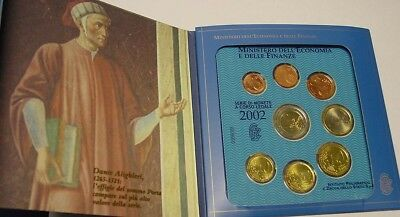 Italy. 2002 Uncirculated coin set in package of issue.