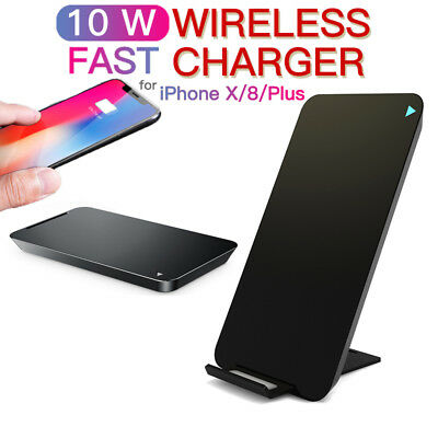 Qi Fast Charging Samsung Wireless Charger S9 S8 Plus S7 Edge Note 8 Holder Mount