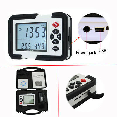 9999ppm CO2 Monitor Detector Carbon Dioxide Air Temperature Humidity DataLogger