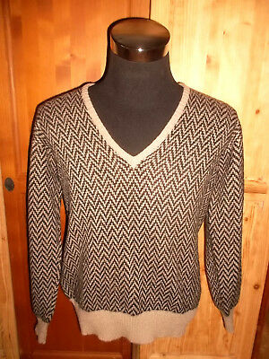 vintage france JERSEY PAUL FOURTICQ mohair pulli jumper cardigan oldschool M