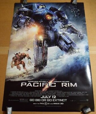 27x40 Double 2 Sided DS Original Authentic Theater Movie Poster Pacific Rim New