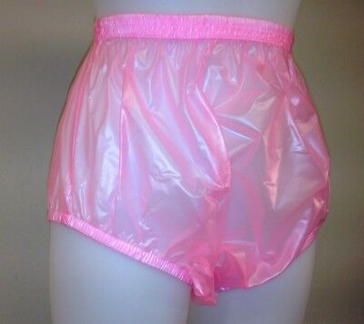 Culotte Pvc Doux Rose Transparent Tl Fetish Adult Baby Sissy Neuf 787!