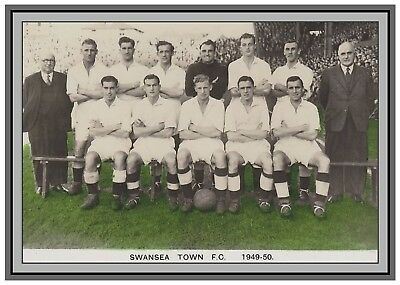 Collectors/Photograph/Print/7 x 5 Photo/Swansea Town (City) 1949/50 Season