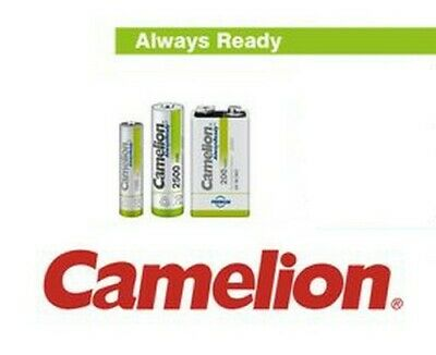 Pile accu rechargeable Always Ready Camelion et pour solaire AA R6, AAA R3, 9V