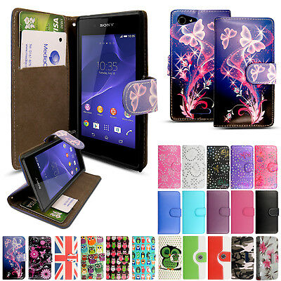 Luxury Leather Flip Wallet Book Magnetic Stand Card Case Cover For Sony Samsung