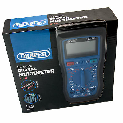 Draper 41817 Digital Multimeter Electrical Electronics Tester Testing Tool AC/DC