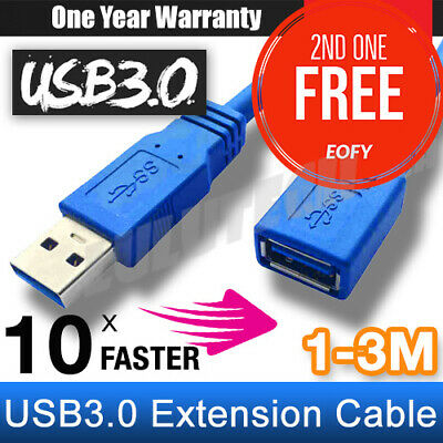 SuperSpeed USB 3.0 Male to Female Extension Cord Data Cable For Laptop PC Camera