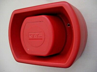 £12.00 KAC SOU-LPR-3 Conventional Red Wall Sounder 24v