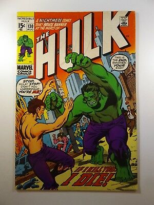 "The Incredible Hulk #130 ""If I Kill You, I Die!"" Great Read!! VG+ Condition!"
