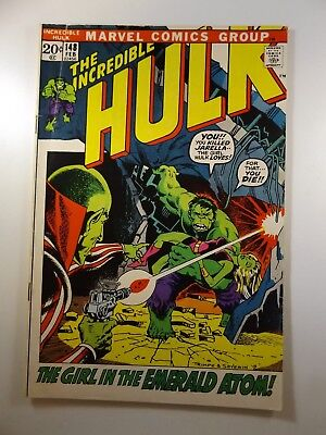 """The Incredible Hulk #148 """"The Girl in the Emerald Atom!"""" VG Condition!!"""