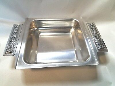 International Silver Stainless DiLido Hollowware Pattern Square Vegetable Bowl