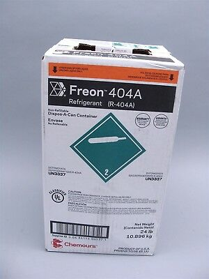 NEW Factory Sealed 24lb Chemours Freon 404A Refrigerant (R-404-A)
