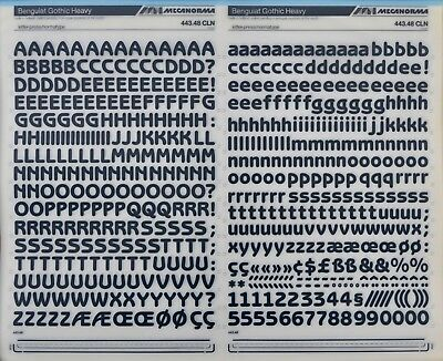 Mecanorma Dry Transfer Lettering Sheet A3 Typo 212 Franklin Gothic 12.6mm