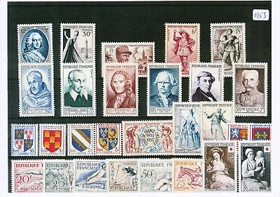 Timbres De France Annee Complete 1953 Neuf Luxe **
