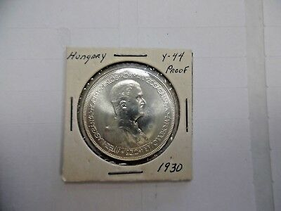 1930 Hungary Five 5 Pengo  Angels  with Crown Proof Restrike 1000 Minted