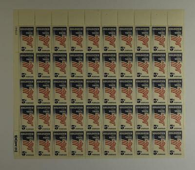 Us Scott 1249 Pane Of 50 Register To Vote Stamps 5 Cent Face Mnh