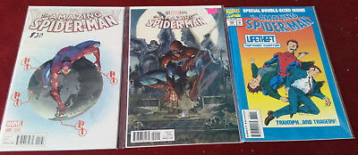 Marvel Comics The Amazing Spider Man Lot of 3 Issues #388 2 Variants 001-022
