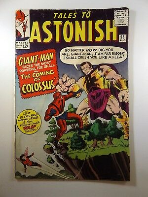 "Tales to Astonish #58 ""The Coming of the Colossus!"" Solid VG- Condition!"