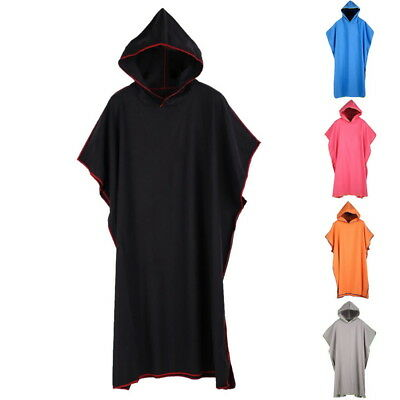 Unisex Men Cloak Bathrobe Robe Hooded Bath Towel Poncho Soft Superfine Fiber