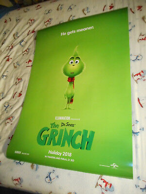 """Benedict Cumberbatch Dr Seuss THE GRINCH orig movie poster one sheet DS 27""""x40"""""""