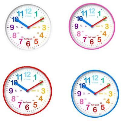 Acctim 22524 Wickford Kids Bright Coloured Easy Display Wall Clock in Red