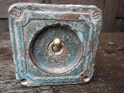Vintage Industrial Cast Iron And Brass Light Switch. Crabtree.