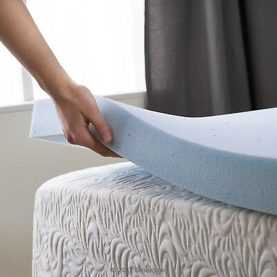 2.5 Inch Cooling Gel Memory Foam Mattress Topper - Twin Full Queen and King Size