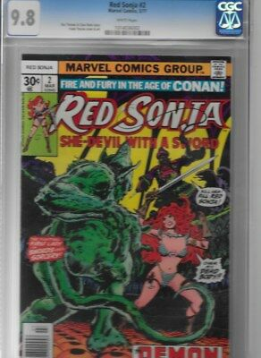 Red Sonja #2  CGC 9.8 White Pages