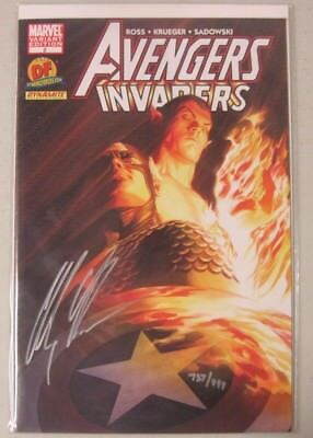 Avengers Invaders #2 Signed By Alex Ross Marvel Dynamic Forces Variant Coa