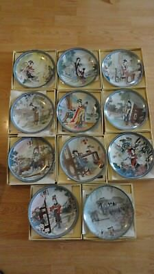 11 plate chinese imperial jingdezhen lot porcelain collector 1995,86,1998,87.