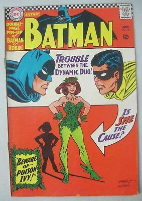 Batman #181 June 1966 Dc Comics 1St Appearance Of Poison Ivy